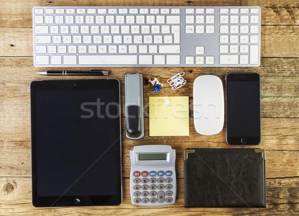 企業 イド セット 木製 写真 テンプレート ストックフォト © manaemedia