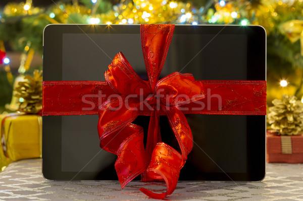 Geschenk christmas geschenken decoraties tabel Stockfoto © manaemedia