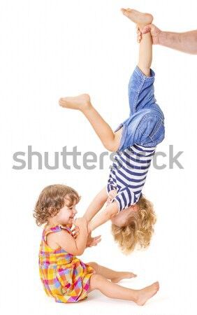 Happy little sister and brother playing  Stock photo © manaemedia
