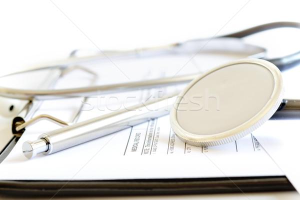 Patiënt medische geschiedenis record geneeskunde wetenschap Stockfoto © manaemedia
