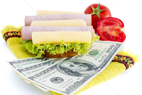Sandwich and dollars Stock photo © manaemedia