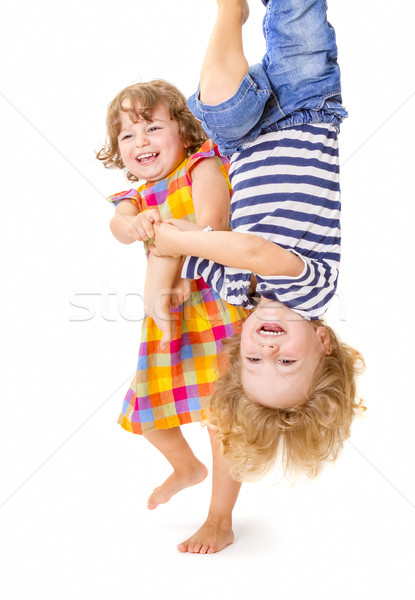 Gelukkig kinderen spelen samen kinderen lachend spelen Stockfoto © manaemedia