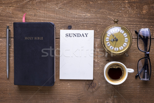 Studying  Holy Bible concept Stock photo © manaemedia