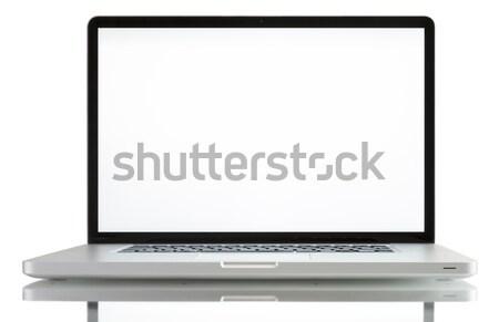 Stok fotoğraf: Dizüstü · bilgisayar · beyaz · ekran · yalıtılmış · bilgisayar · Internet