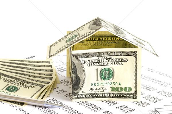 House of dollars Stock photo © manaemedia