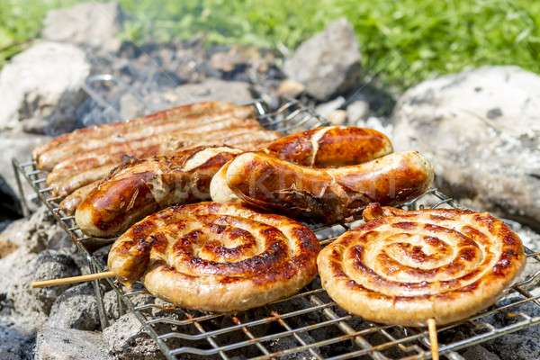 sausages on grill outdoor Stock photo © manaemedia
