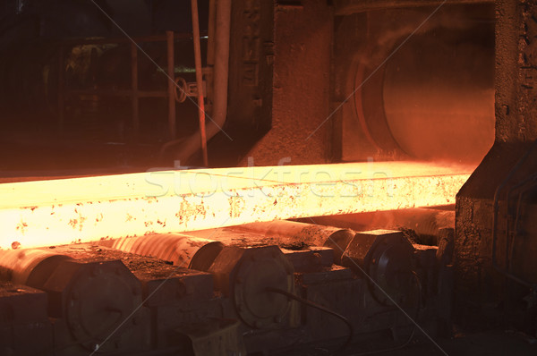 hot steel on conveyor Stock photo © manaemedia
