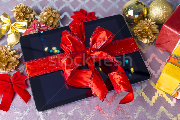 Tablet pc gift for Christmas Stock photo © manaemedia