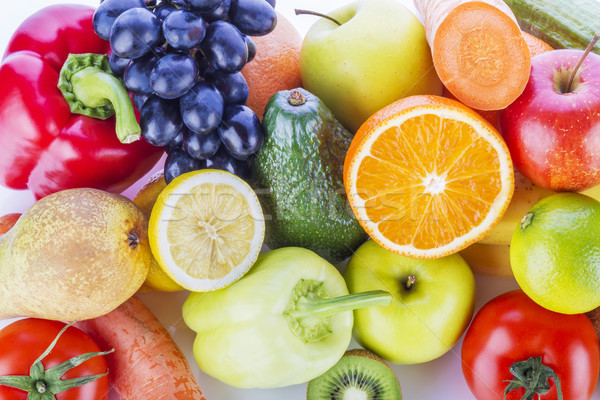 Assortment of exotic fruits and vegetables  Stock photo © manaemedia