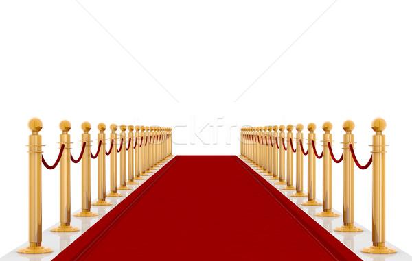 Rood rode loper entree star tapijt viering Stockfoto © manaemedia