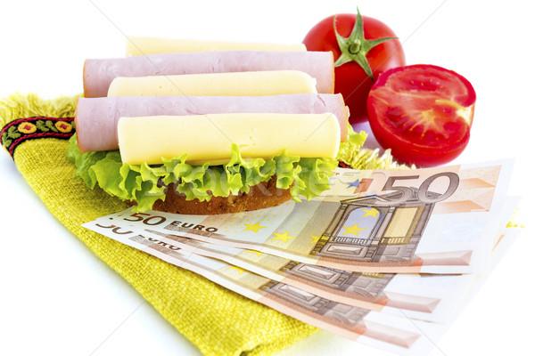 Sandwich and money Stock photo © manaemedia