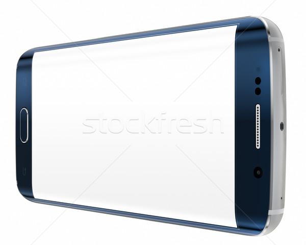 スマートフォン エッジ 画面 白 ストックフォト © manaemedia