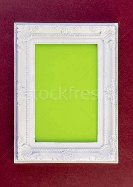Witte frame donkere Rood groene textuur Stockfoto © manaemedia