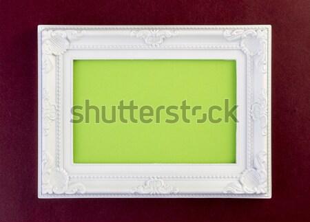 White Frame on dark red Stock photo © manaemedia