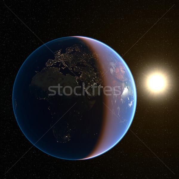Europa notte 3D generato immagine luce Foto d'archivio © manaemedia