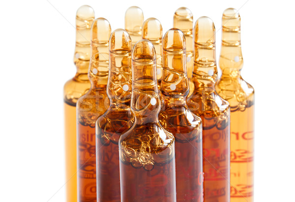 Preparation for an injection with ampoules or vials Stock photo © manaemedia