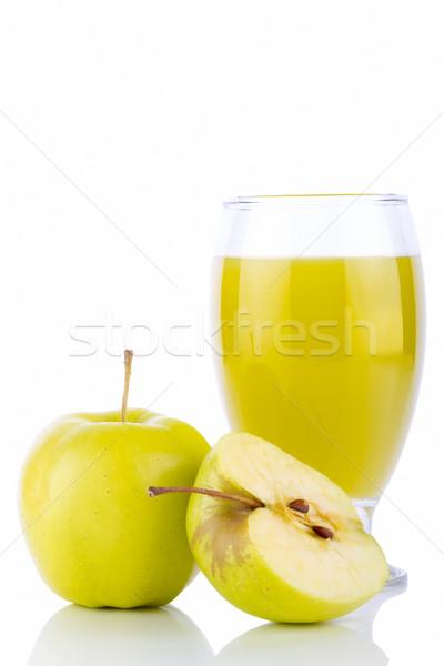 Appelsap glas groene appels geïsoleerd witte Stockfoto © manaemedia