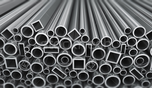 Stack of steel pipes Stock photo © manaemedia
