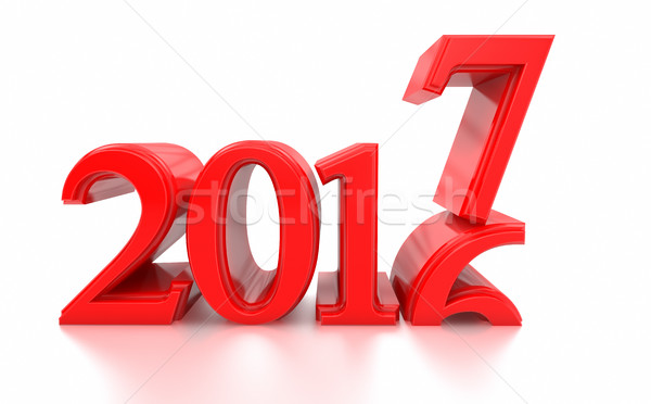 2016-2017 change represents the new year 2017 Stock photo © manaemedia