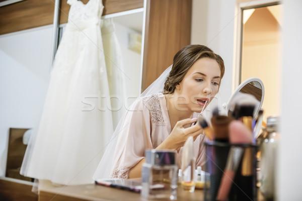 Makeup for bride Stock photo © manaemedia