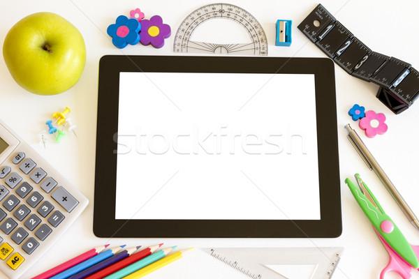 School internet potlood onderwijs mobiele Stockfoto © manaemedia