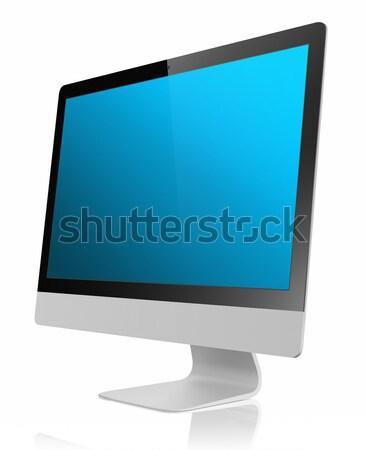 Monitor pc számítógép fémes lapos kijelző panel Stock fotó © manaemedia
