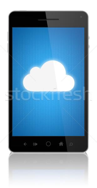 Verbinding mobiele telefoon moderne mobiele Stockfoto © manaemedia