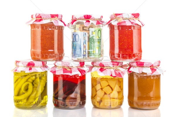 financial reserves money conserved in a glass jar Stock photo © manaemedia