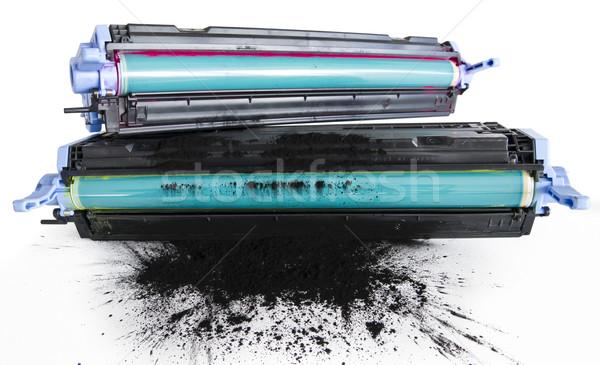 Impressora cilindro substituição plástico laser objeto Foto stock © manaemedia