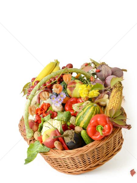 Mand groenten vruchten variëteit ruw Stockfoto © manaemedia