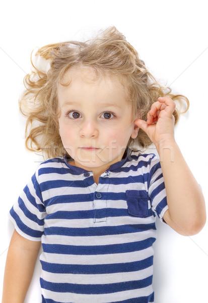 Weinig jongen witte cute Stockfoto © manaemedia