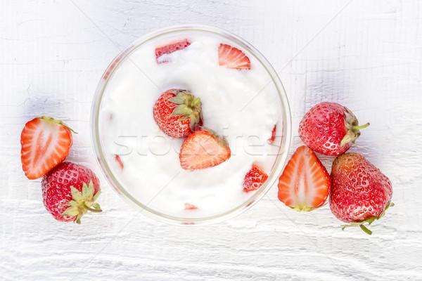 strawberry yoghurt Stock photo © manaemedia