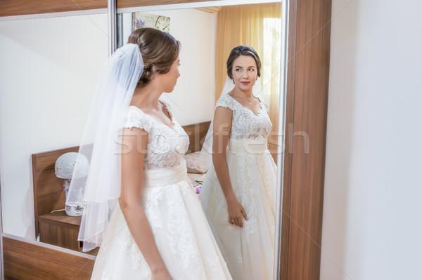 Bride in white dress Stock photo © manaemedia