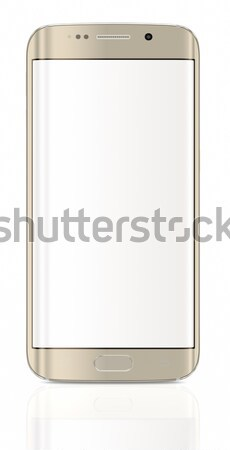 Stock photo: Gold Platinum Smartphone edge with blank screen