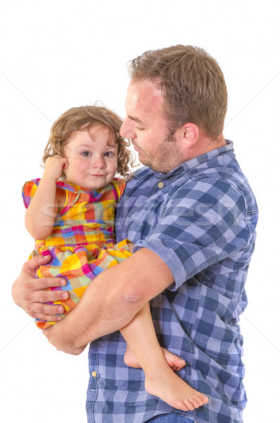 Father comforting his crying little daughter. Stock photo © manaemedia