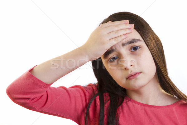 Little girl with headache Stock photo © manaemedia