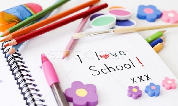 学校 異なる 白 塗料 背景 ストックフォト © manaemedia