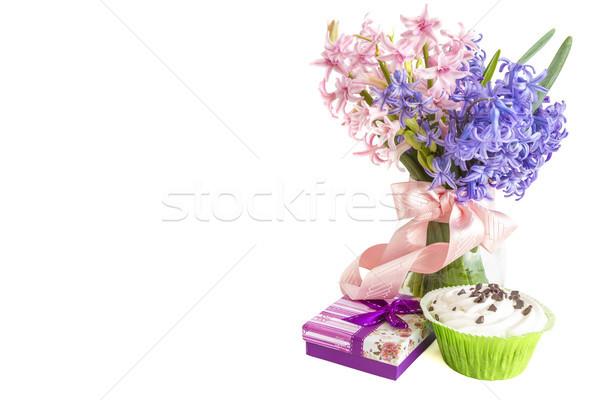 Moeders dag geschenk liefde achtergrond groene Stockfoto © manaemedia
