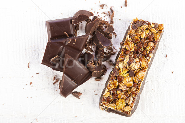 cereal bar with chocolate Stock photo © manaemedia
