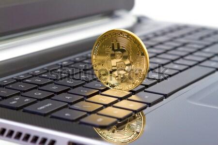 Photo Golden Bitcoin (new virtual money ) Stock photo © manaemedia