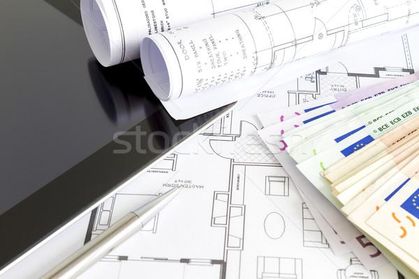 Money and house plans Stock photo © manaemedia