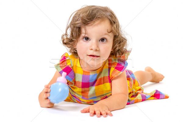 Bambina sorridere fotocamera Foto d'archivio © manaemedia