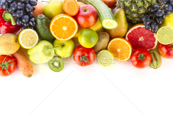 Fresh fruits and vegetables Stock photo © manaemedia
