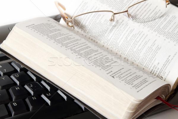 Studying the Bible Stock photo © manaemedia