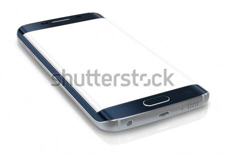 Smartphone rand scherm witte Stockfoto © manaemedia