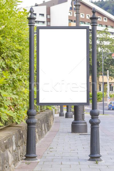Lege billboard stad centrum bus station Stockfoto © manaemedia