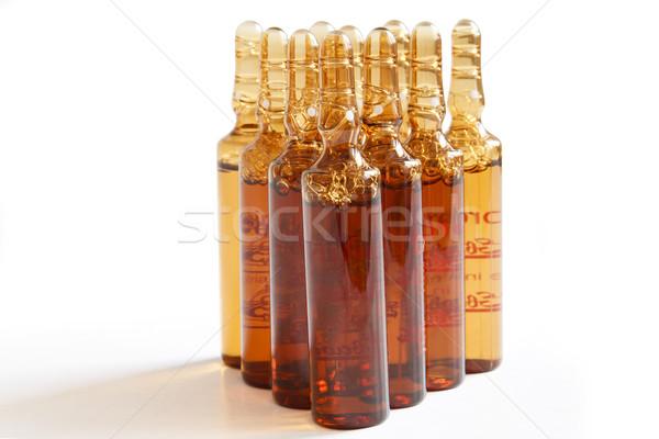 Gyógyszeripari egyéb makró fotó gyógyszer orvosi Stock fotó © manaemedia