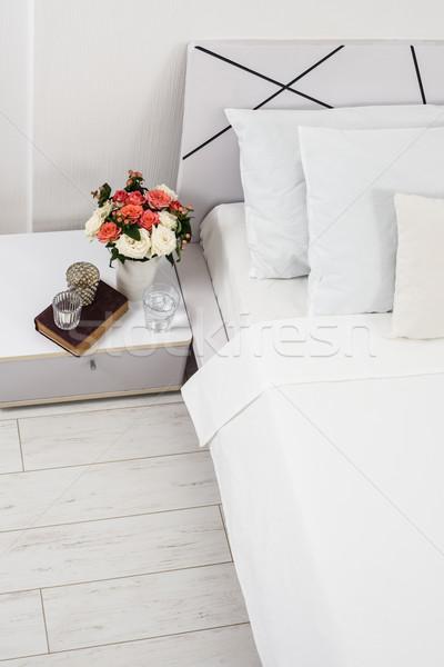 Tabela decoração interior branco quarto novo Foto stock © manera