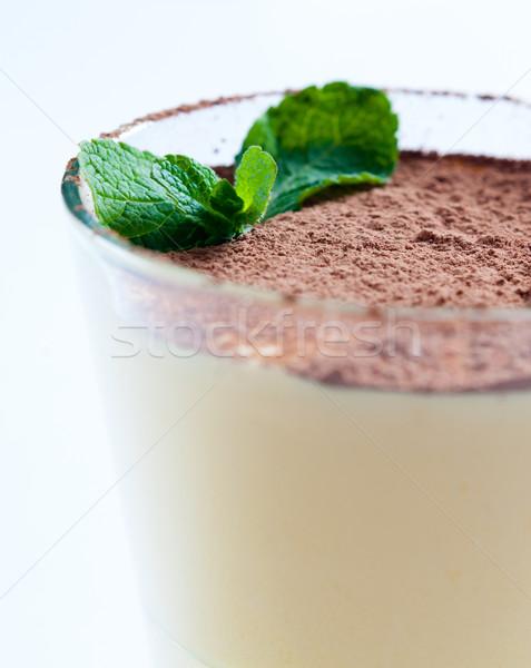 Closeup of vanilla cream dessert Stock photo © manera