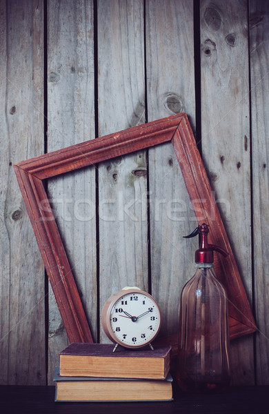 siphon, alarm clock and vintage books  Stock photo © manera